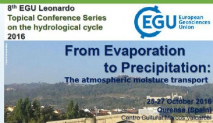 8 th EGU Leonardo Topical Conference Series on the hydrological cycle 2016